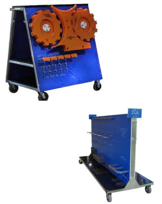 Change Part Storage Solution, Bottle filler change part trolley, Star Wheels Storage Solutions