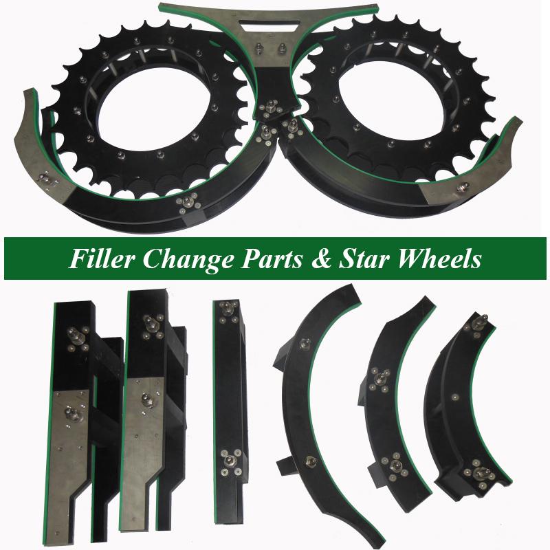 Filling Change Parts, Filler Star Wheels, Filling Feed Screws, Filler Bottle Handling Parts, Bottle Filling OEM Parts