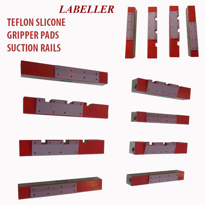 Labeller Vacuum Drum Vacuum pad, Labelling Vacuum pads, Labeler Vacuum Gripper Pads, Labeler silicon Teflon coating  gripper vacuum pads, Labelling  suction block, label absorb vacuum bar
