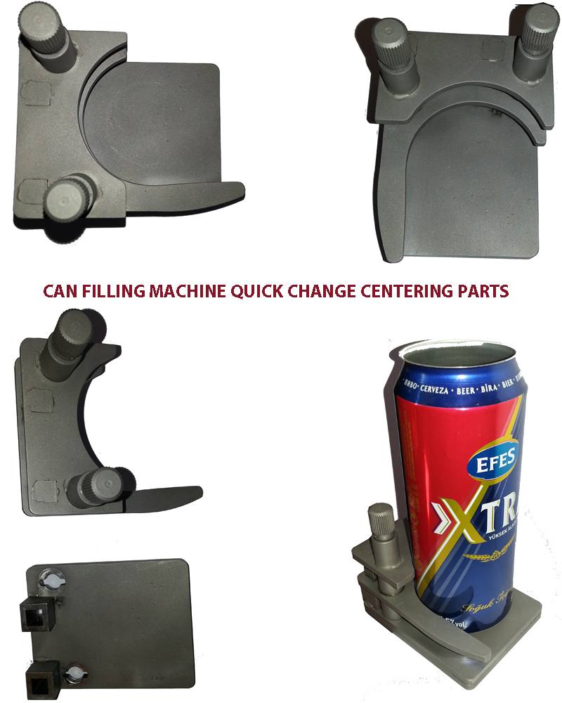 Can Filler Centering Parts, Can Filling Change Parts, Can Filler Quick Change Centering Parts, Can Filler Replacement Parts